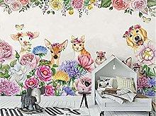 XHXI 3D Wallpaper Photo Wallpaper Kids Room Mural