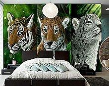 XHXI Big Cats Jaguars Black Background Animal