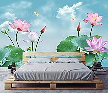 XHXI Blue Lotus of Blue Sky and White Clouds 3D