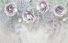 XHXI Lilac Flower Sidewall Wallpaper