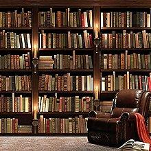 XHXI Mural European Retro Bookcase Books Bookshelf