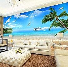 XHXI Mural Wallpaper Beach Landscape Background