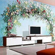XHXI Mural Wallpaper European Pastoral Flowers