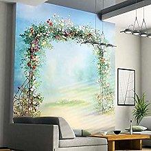 XHXI Mural Wallpaper European Pastoral Flowers Oil