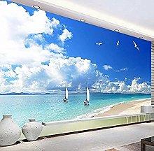 XHXI Mural Wallpaper Sandy Beach Landscape Modern