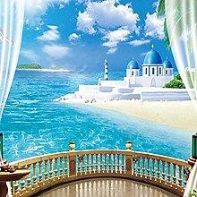 XHXI Mural Wallpaper Stereoscopic Window Ocean