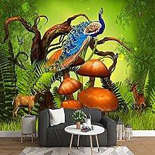 XHXI Mysterious Original Forest Animal Wallpaper