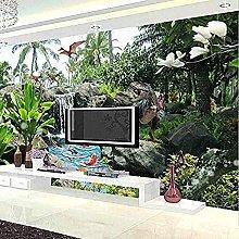 XHXI Photo Wall Paper 3D Park Landscape Dinosaur