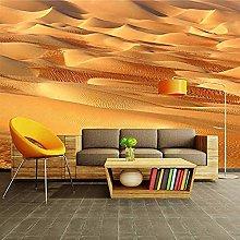 XHXI Photo Wallpaper 3D Yellow Sand Desert Sofa Tv