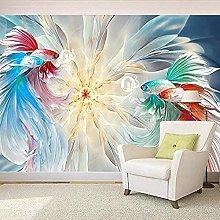 XHXI Photo Wallpaper Fancy Goldfish Mural Living