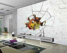 XHXI Wallpaper Broken Wall Dinosaur Cartoon Tv