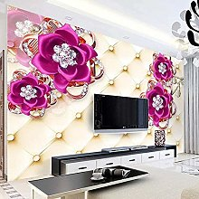 XHXI Wallpaper for Bedroom 3D Jewelry Flowers Soft
