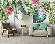 XHXI Wallpaper Nordic Simple Small Fresh Green