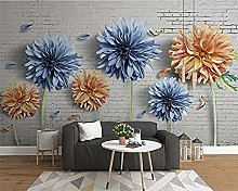 XHXI Wallpaper Now Simple 3D Chrysanthemum Brick