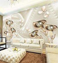 XHXI Wallpaper Papel Pintado herradura orquídea