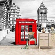 XHXI Wallpaper Wall Panoramic 3D London Red Phone