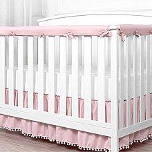 XHXseller 3pcs/set Padded Baby Crib Rail Cover