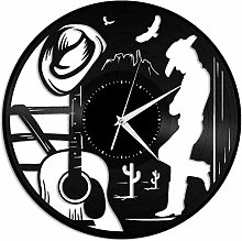xiadayu Country music vinyl wall clock gift for