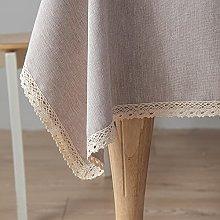 XIAKE Table Cloth Wipeable Cotton Linen Tablecloth