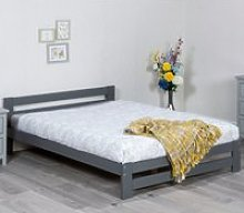 Xiamen Grey Wooden Bed Frame Only - 3ft Single
