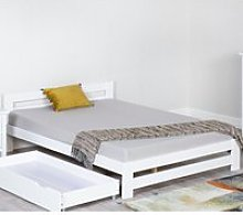 Xiamen White Wooden Bed Frame Only - 3ft Single