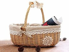 XIAMUSUMMER Shopping basket, gift basket, wicker