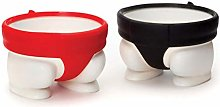 XIANGBAO 2PCS Sumo Eggs Cup Holders Egg Cups for