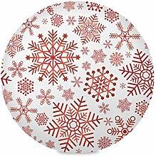 XiangHeFu Christmas Snowflakes Art Pattern 15 Inch