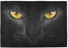 XiangHeFu Easy to Clean Home Table Mat Black Cat