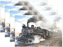 XiangHeFu Placemats Classic Steam Train Smoke