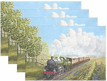 XiangHeFu Placemats Steam Train 12x18 inch 1 piece