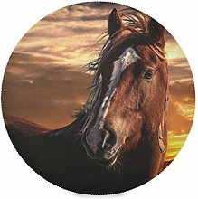 XiangHeFu Sunset Horse 15 Inch Round Placemats 1