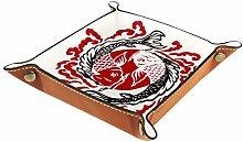 XiangHeFu Valet Tray Desk Organizer - Fish