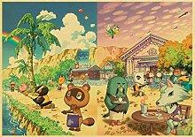 xiangpiaopiao Game Animal Crossing Retro Poster
