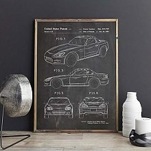 xiangpiaopiao Sports Car Patenthonda S2000 Artwork