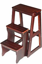 XIANWEI Step Stool Solid Wood 3-Layer Step Stool