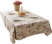 XIANWEI Vintage Cotton Tablecloth Rectangular Home