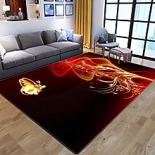 XIAOBAOZI ZS Carpet Rug,Abstract Animal Glowing