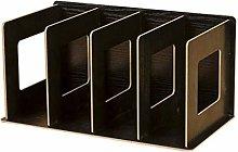 XiaoDong1 4 Grids Wooden Bookshelf Bookends Book