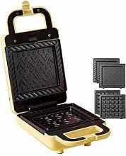 XiaoDong1 Sandwich Toaster, 2-in-1 Waffle Maker,
