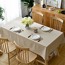XIAOE Rectangle Table Cloth Wipe Clean Cotton