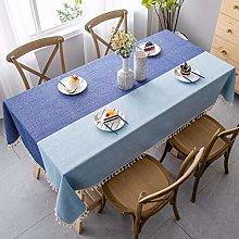 XIAOE Tablecloth Wipe Clean Linen Fabric Xmas