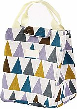 XIAOGEGE Insulated Lunch Bag Geometric Pattern
