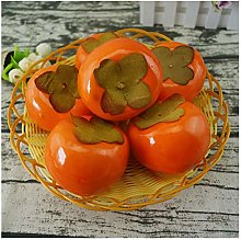 xiaokeai Artificial Fruits 6pcs Persimmon Fruit