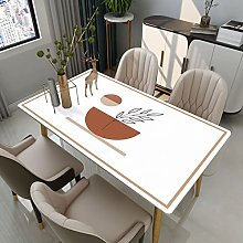 xiaopang Heavy Weight Vinyl Tablecloth for Square