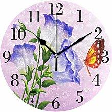 Xiaoxian Purple Flower Butterfly Quiet retro