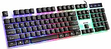 xiaoxioaguo Desktop keyboard rainbow glow wired