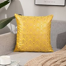 XIAOXX Yellow small V pattern pillowcase home