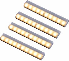 XIAOYONG 4 pcs LED Closet Light,10 LEDs Sticky