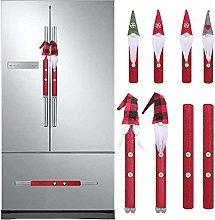 xiaoyu shop 8PCS Christmas Kitchen Handle Cover